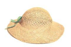 paille d'isolement par chapeau Photographie stock libre de droits