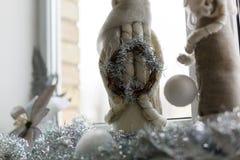 Paille de gardien de charme de bonhomme de neige Photo stock