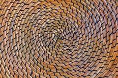 Paille en osier circulaire photo libre de droits