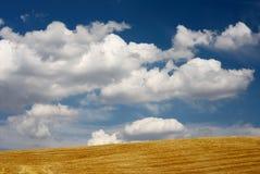 Paille et ciel Photographie stock