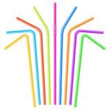 Pailles à boire colorées Images stock