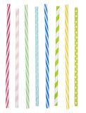 Pailles à boire colorées photographie stock libre de droits