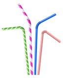Pailles à boire colorées réglées illustration stock