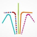 Pailles à boire colorées réglées Vecteur illustration libre de droits