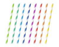 Pailles à boire colorées rayées illustration libre de droits