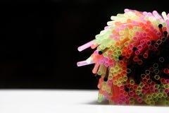 Pailles colorées Image libre de droits