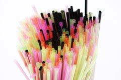 Pailles colorées Photographie stock libre de droits