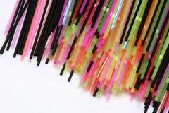 Pailles colorées Images libres de droits