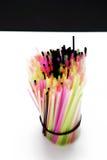 Pailles colorées Photos libres de droits