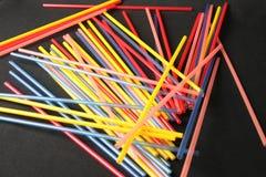Pailles colorées Images stock