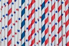Pailles colorées de bannière étoilée Photo libre de droits