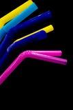 Pailles multicolores Photographie stock libre de droits