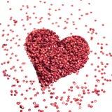 Paillette do coração Imagens de Stock Royalty Free