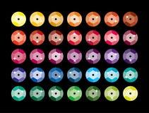 Paillette multicolore, scintillement abrégez le fond Photos libres de droits