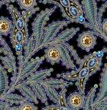 Paillette-nahtloses Vektor-Muster Ohne Steigung Schwarzer Hintergrund lizenzfreie abbildung