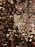 Paillette ronde d'or de scintillement Photographie stock libre de droits