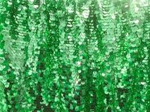 Paillette ronde de vert de scintillement photo libre de droits