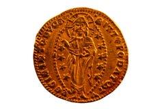 Paillette - Zechine - eine Goldmünze von Venedig Lizenzfreie Stockfotos