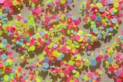 Paillettes colorées multi pour la conception des clous scintillement Aluminium pour le service de clou Miroitement de scintilleme photos libres de droits