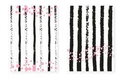 Paillettes roses de scintillement avec des points Épouser et invita nuptiale de douche illustration de vecteur