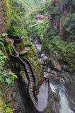 Pailon del Diablo, Banos Santa Agua, Ecuador Stock Photos