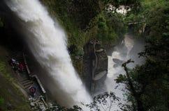 Pailon del Diablo en Baños Ecuador Imagenes de archivo