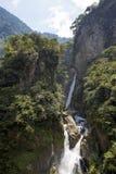 Pailon del Diablo and its waterfall, Banos, Ecuador Royalty Free Stock Photo