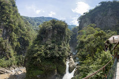 Pailon del Diablo and its waterfall, Banos, Ecuador Stock Photo