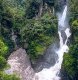 Pailon del Diablo - Mountain river and waterfall Stock Image