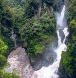 Pailon del Diablo - Mountain river and waterfall Stock Image