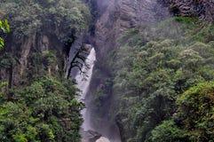 Pailon Del Diablo waterfall, in Banos de Agua Santa Stock Photography
