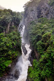 Pailon Del Diablo waterfall, in Banos de Agua Santa Stock Photography