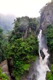 Pailon Del Diablo waterfall, in Banos de Agua Santa Stock Image