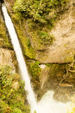 Pailon Del Diablo Waterfall Stock Image