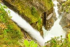 Pailon Del Diablo Waterfall Stock Images