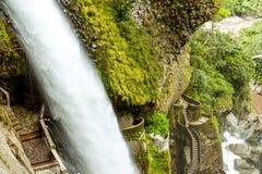 Pailon Del Diablo Waterfall Royalty Free Stock Photos