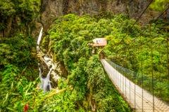 Pailon Del Diablo Waterfall Long Exposure Stock Photos