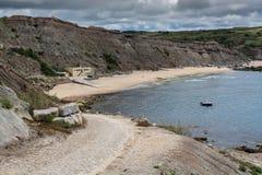 Paimogo beach in Lourinha, Portugal. Lourinha Portugal. 26 June 2017. Paimogo beach in Lourinha.  Lourinha, Portugal. photography by Ricardo Rocha Stock Photos