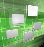 Painéis da tecnologia, versão verde Fotografia de Stock Royalty Free