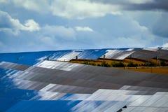Painéis de baterias solares Foto de Stock Royalty Free