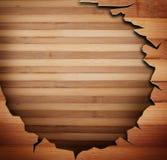 Painéis de madeira usados como o fundo Fotografia de Stock