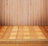 Painéis de madeira usados como o fundo Foto de Stock