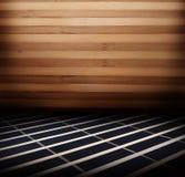 Painéis de madeira usados como o fundo Imagem de Stock