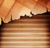 Painéis de madeira usados como o fundo Fotos de Stock