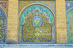 Painéis decorativos em Golestan, Tehran Fotos de Stock Royalty Free