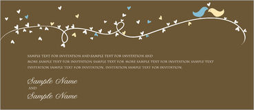 Painéis do convite do casamento Fotos de Stock Royalty Free