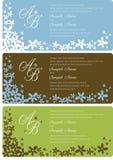 Painéis do convite do casamento Imagens de Stock Royalty Free