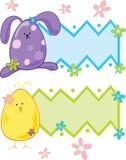 Painéis do texto de Easter Fotografia de Stock