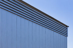Painéis e telhados de parede da folha de metal Fotos de Stock
