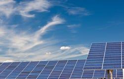 Painéis Photovoltaic Fotos de Stock Royalty Free
